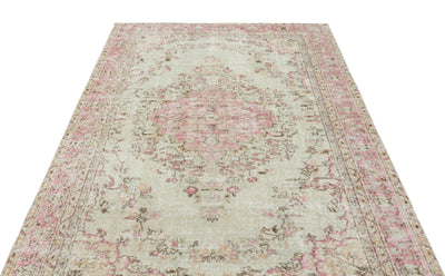 Naturel Over Dyed Vintage Rug 5'2'' x 7'11'' ft 158 x 242 cm