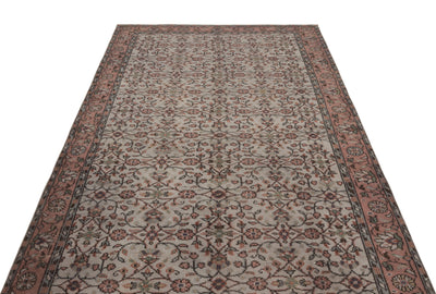 Gray Over Dyed Vintage Rug 5'2'' x 8'6'' ft 157 x 260 cm