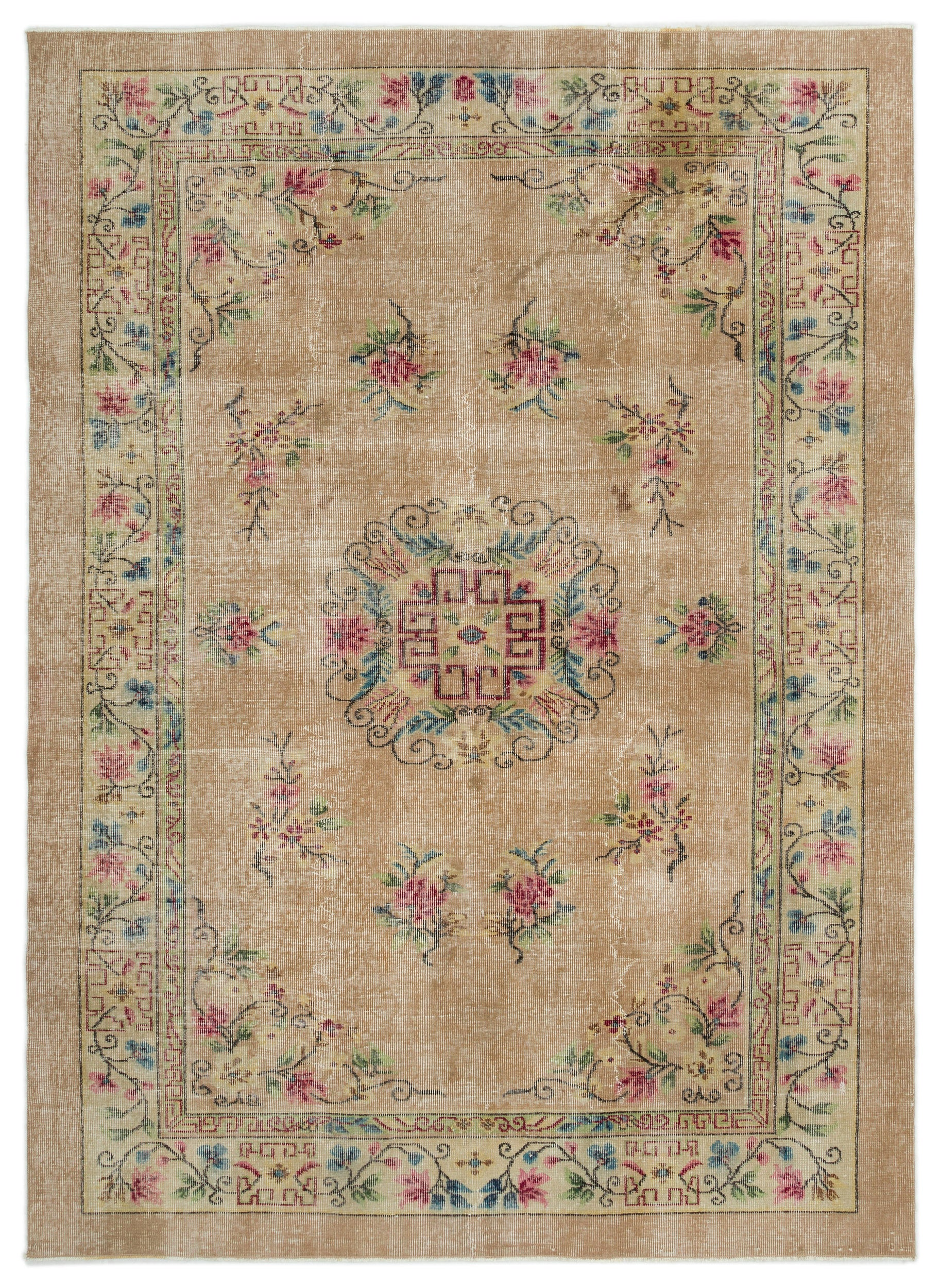 Naturel Over Dyed Vintage Rug 6'1'' x 8'5'' ft 185 x 257 cm