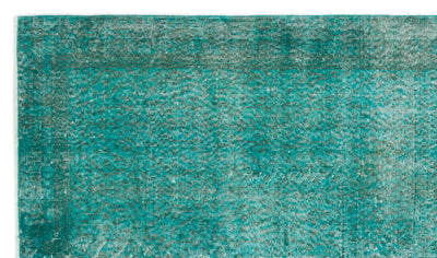 Turquoise  Over Dyed Vintage Rug 5'1'' x 8'9'' ft 154 x 266 cm