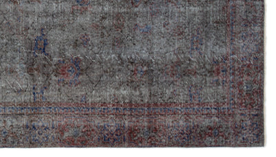 Gray Over Dyed Vintage Rug 5'3'' x 9'5'' ft 160 x 288 cm