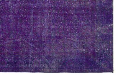 Purple Over Dyed Vintage Rug 6'10'' x 10'3'' ft 208 x 313 cm