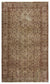 Brown Over Dyed Vintage Rug 5'1'' x 8'8'' ft 156 x 264 cm