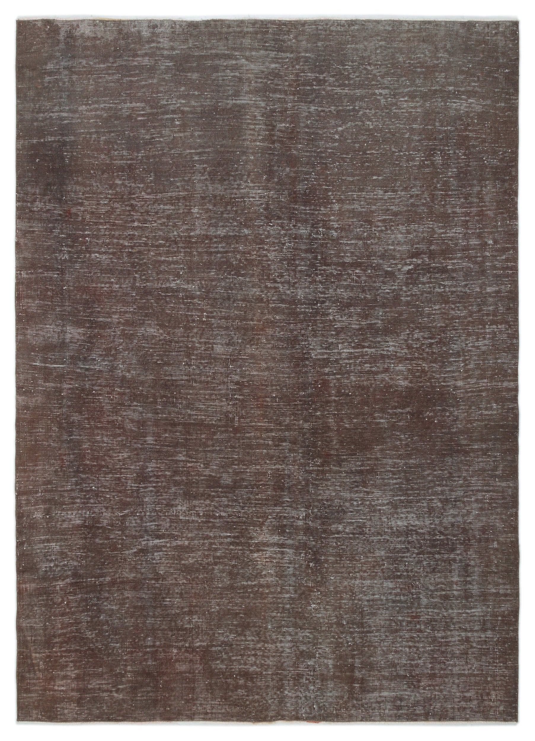 Brown Over Dyed Vintage Rug 6'9'' x 9'1'' ft 206 x 277 cm