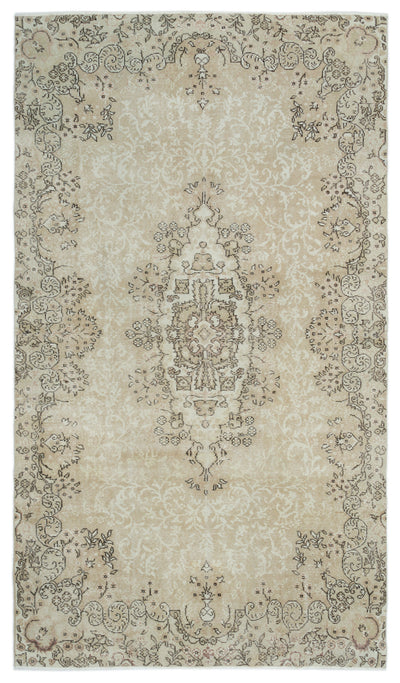 Beige Over Dyed Vintage Rug 5'11'' x 10'0'' ft 180 x 305 cm