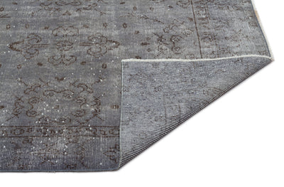 Gray Over Dyed Vintage Rug 5'8'' x 9'5'' ft 172 x 286 cm