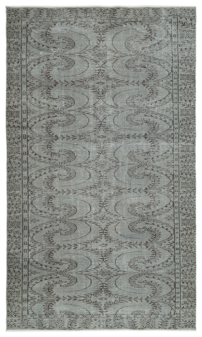 Gray Over Dyed Vintage Rug 5'2'' x 8'10'' ft 158 x 268 cm
