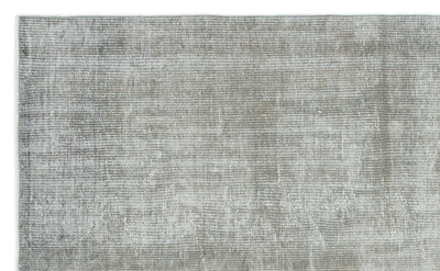 Gray Over Dyed Vintage Rug 5'2'' x 8'4'' ft 157 x 253 cm