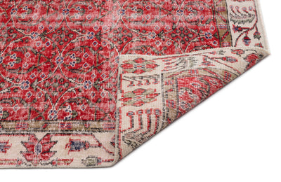 Retro Over Dyed Vintage Rug 5'9'' x 9'1'' ft 174 x 277 cm