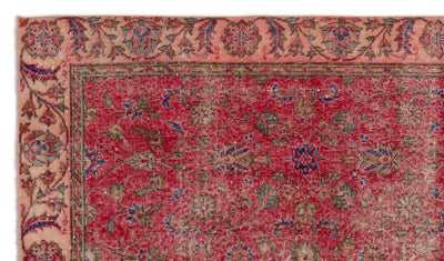 Naturel Over Dyed Vintage Rug 5'1'' x 8'10'' ft 155 x 270 cm