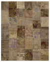 Anatolia Over Dyed Patchwork Unique Rug 9'5'' x 11'8'' ft 286 x 355 cm