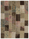 Anatolia Over Dyed Patchwork Unique Rug 8'10'' x 11'10'' ft 270 x 361 cm