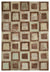 Beige Over Dyed Patchwork Unique Rug 6'6'' x 9'4'' ft 197 x 284 cm