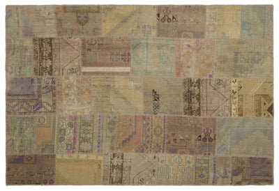 Anatolia Over Dyed Patchwork Unique Rug 6'1'' x 8'12'' ft 185 x 274 cm