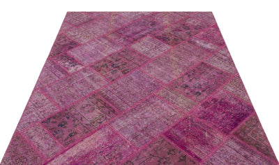 Pink Over Dyed Patchwork Unique Rug 5'3'' x 7'7'' ft 160 x 230 cm