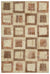 Beige Over Dyed Patchwork Unique Rug 5'3'' x 7'8'' ft 160 x 233 cm