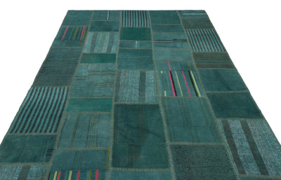 Mixed Over Dyed Kilim Patchwork Unique Rug 6'5'' x 9'11'' ft 195 x 303 cm