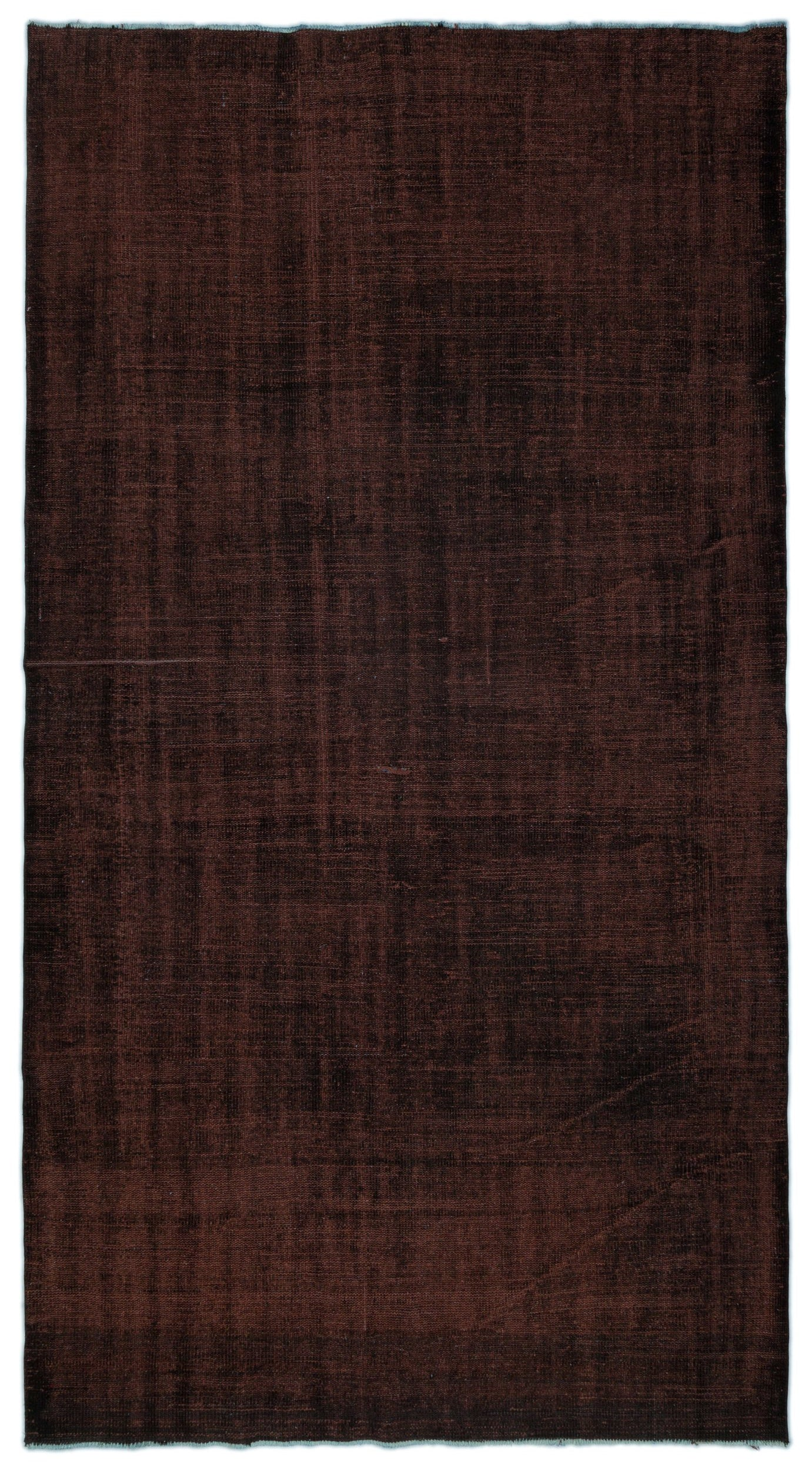 Brown Over Dyed Vintage Rug 5'10'' x 10'3'' ft 177 x 312 cm