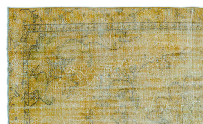 Yellow Over Dyed Vintage Rug 5'8'' x 8'12'' ft 172 x 274 cm