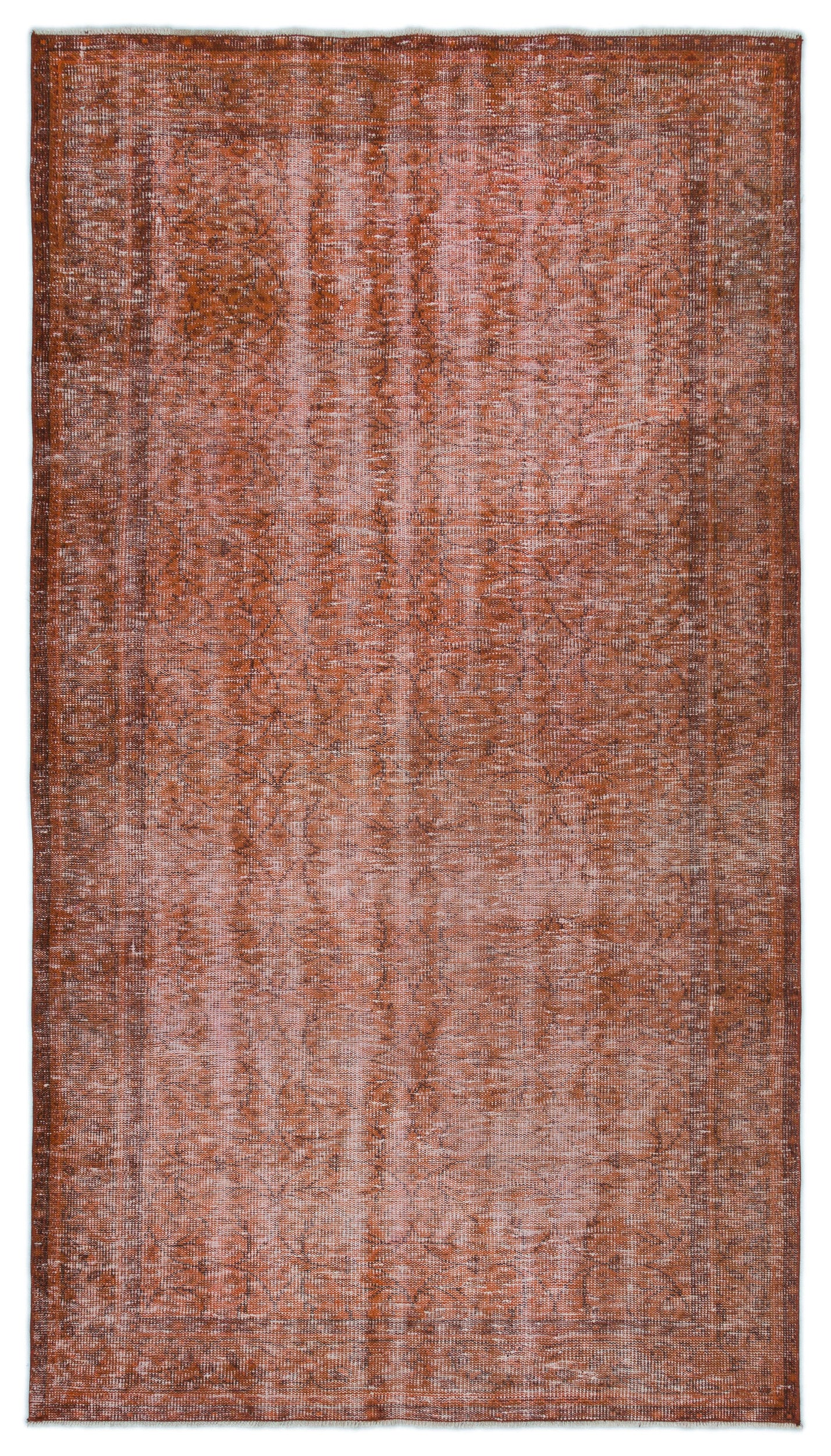 Brown Over Dyed Vintage Rug 4'6'' x 8'0'' ft 137 x 244 cm