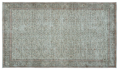 Gray Over Dyed Vintage Rug 5'0'' x 8'9'' ft 153 x 267 cm