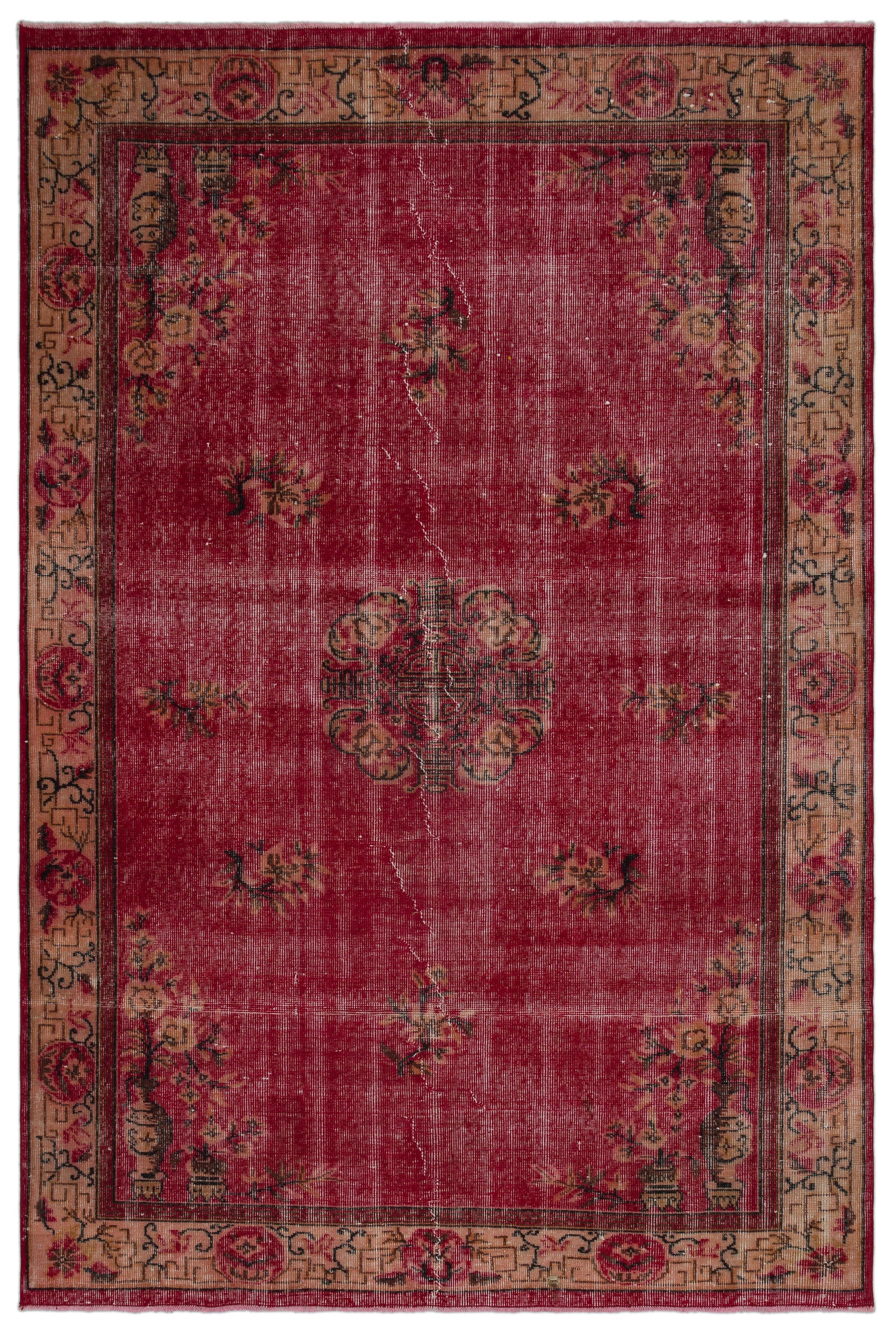 Naturel Over Dyed Vintage Rug 5'9'' x 8'4'' ft 174 x 253 cm