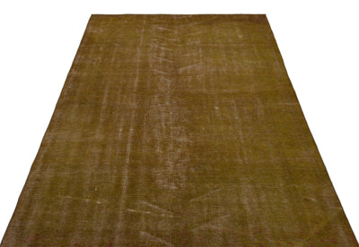 Brown Over Dyed Vintage Rug 5'1'' x 8'6'' ft 155 x 260 cm