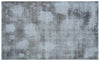 Blue Over Dyed Vintage Rug 5'8'' x 9'3'' ft 173 x 282 cm