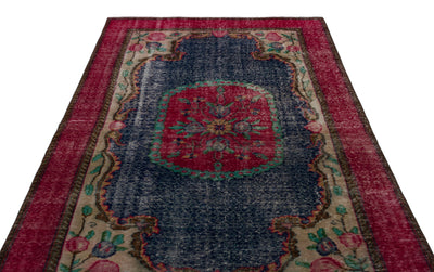 Naturel Over Dyed Vintage Rug 5'6'' x 8'2'' ft 167 x 248 cm