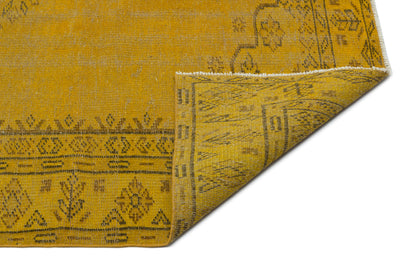 Yellow Over Dyed Vintage Rug 5'9'' x 8'10'' ft 175 x 268 cm