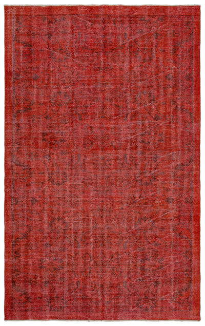 Red Over Dyed Vintage Rug 5'1'' x 8'3'' ft 156 x 252 cm