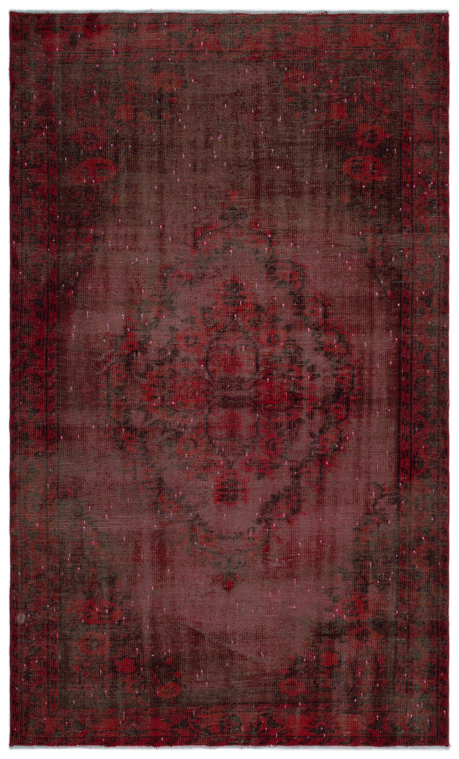 Naturel Over Dyed Vintage Rug 5'1'' x 8'3'' ft 154 x 252 cm