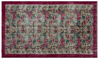 Retro Over Dyed Vintage Rug 4'11'' x 8'6'' ft 150 x 260 cm