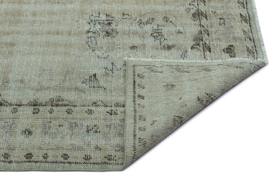 Beige Over Dyed Vintage Rug 6'2'' x 8'10'' ft 188 x 269 cm