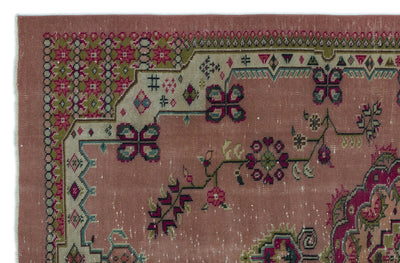 Naturel Over Dyed Vintage Rug 5'7'' x 8'4'' ft 171 x 253 cm
