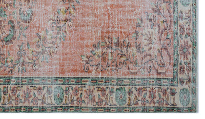 Retro Over Dyed Vintage Rug 5'4'' x 9'3'' ft 163 x 282 cm