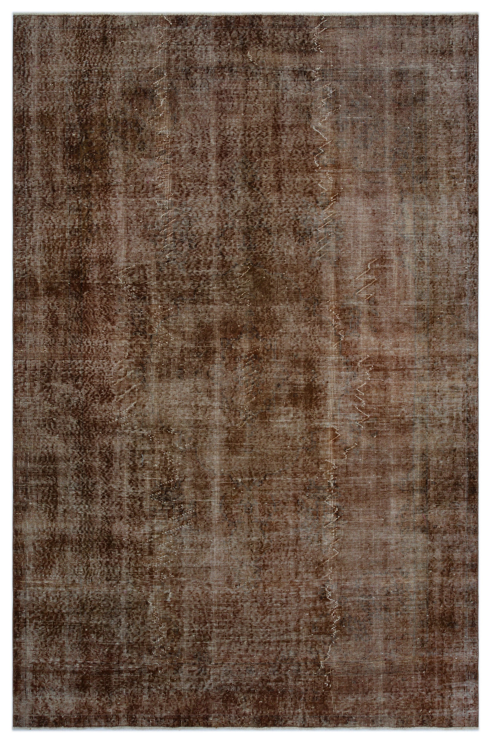 Brown Over Dyed Vintage Rug 6 2 X 9 4 Ft 188 X 284 Cm Unique Rug Store