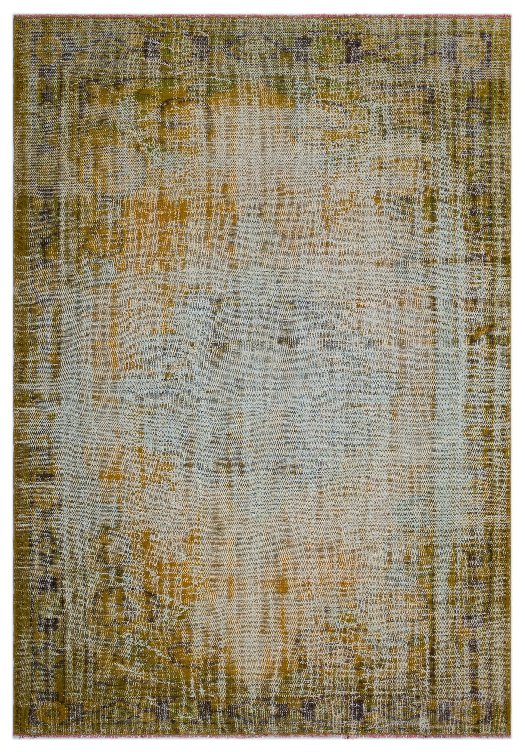 Retro Over Dyed Vintage Rug 6'3'' x 8'12'' ft 190 x 274 cm