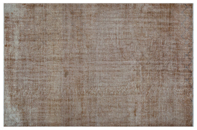 Brown Over Dyed Vintage Rug 5'6'' x 8'4'' ft 167 x 253 cm
