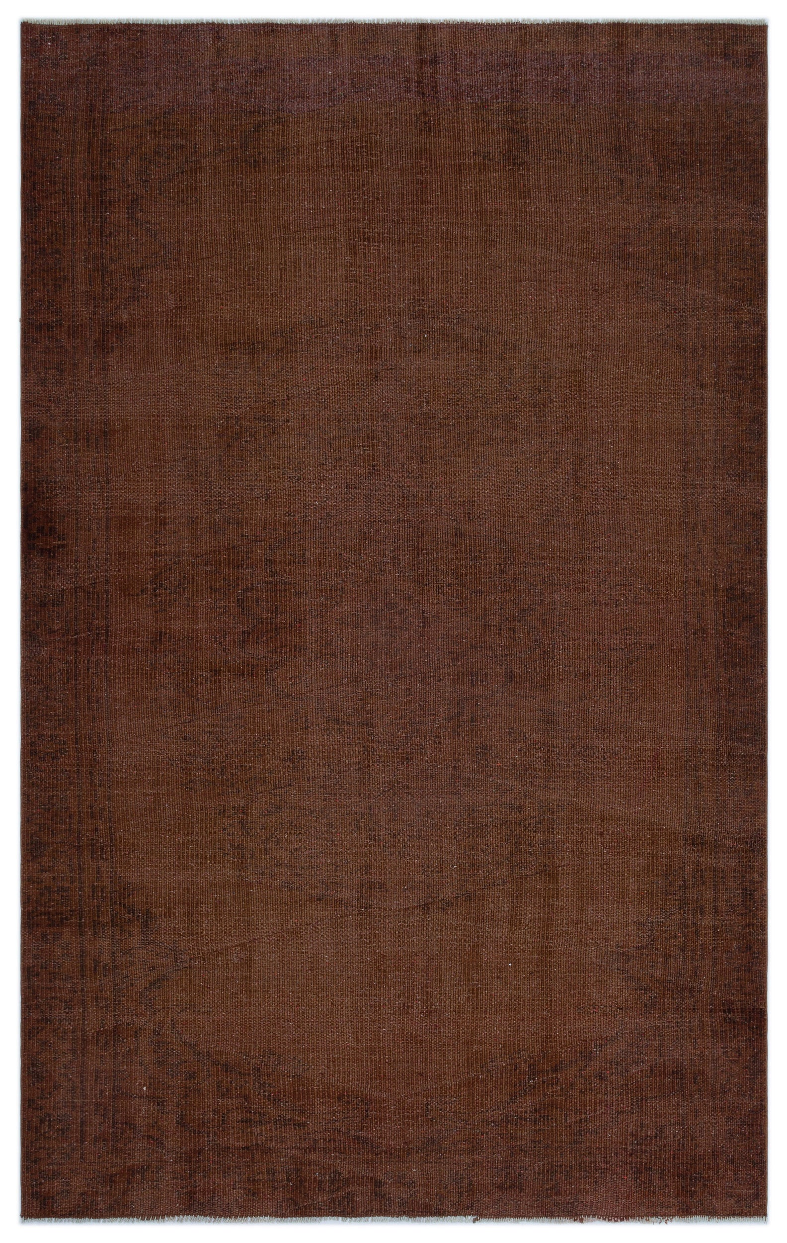 Brown Over Dyed Vintage Rug 5'3'' x 8'5'' ft 160 x 257 cm