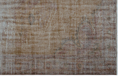 Brown Over Dyed Vintage Rug 6'5'' x 9'8'' ft 195 x 295 cm