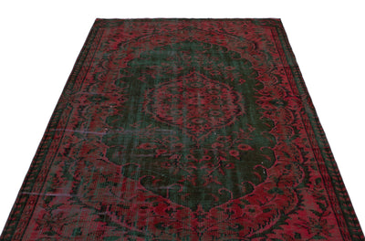 Retro Over Dyed Vintage Rug 5'1'' x 8'2'' ft 156 x 250 cm