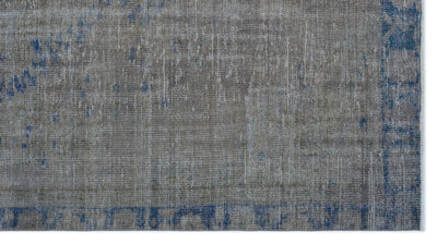 Gray Over Dyed Vintage Rug 5'3'' x 9'6'' ft 161 x 290 cm