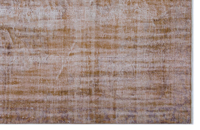 Brown Over Dyed Vintage Rug 5'6'' x 8'4'' ft 168 x 255 cm