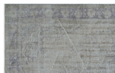 Gray Over Dyed Vintage Rug 5'3'' x 8'2'' ft 159 x 250 cm