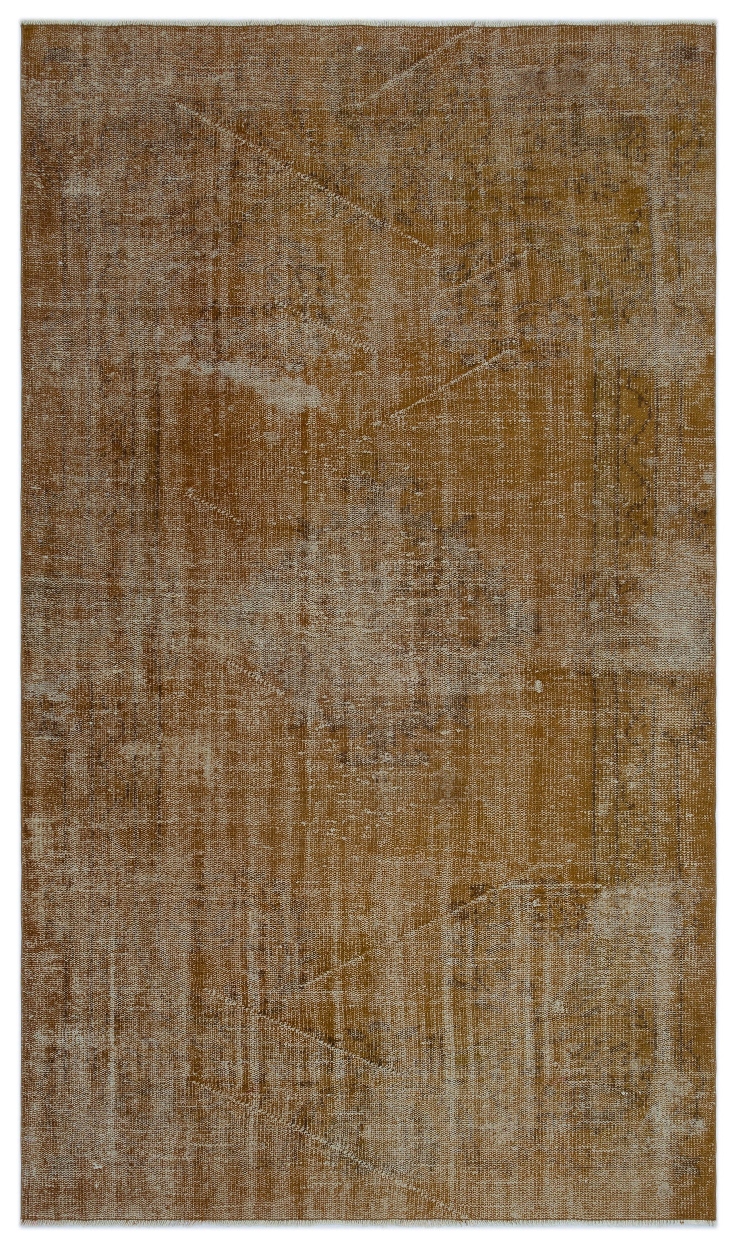Brown Over Dyed Vintage Rug 4'10'' x 8'2'' ft 148 x 250 cm