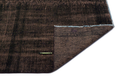 Brown Over Dyed Vintage Rug 5'3'' x 7'8'' ft 160 x 234 cm