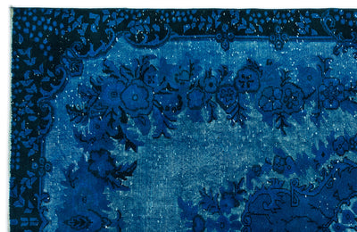 Turquoise  Over Dyed Carved Rug 6'0'' x 9'5'' ft 183 x 288 cm