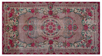 Retro Over Dyed Vintage Rug 5'3'' x 9'7'' ft 159 x 293 cm