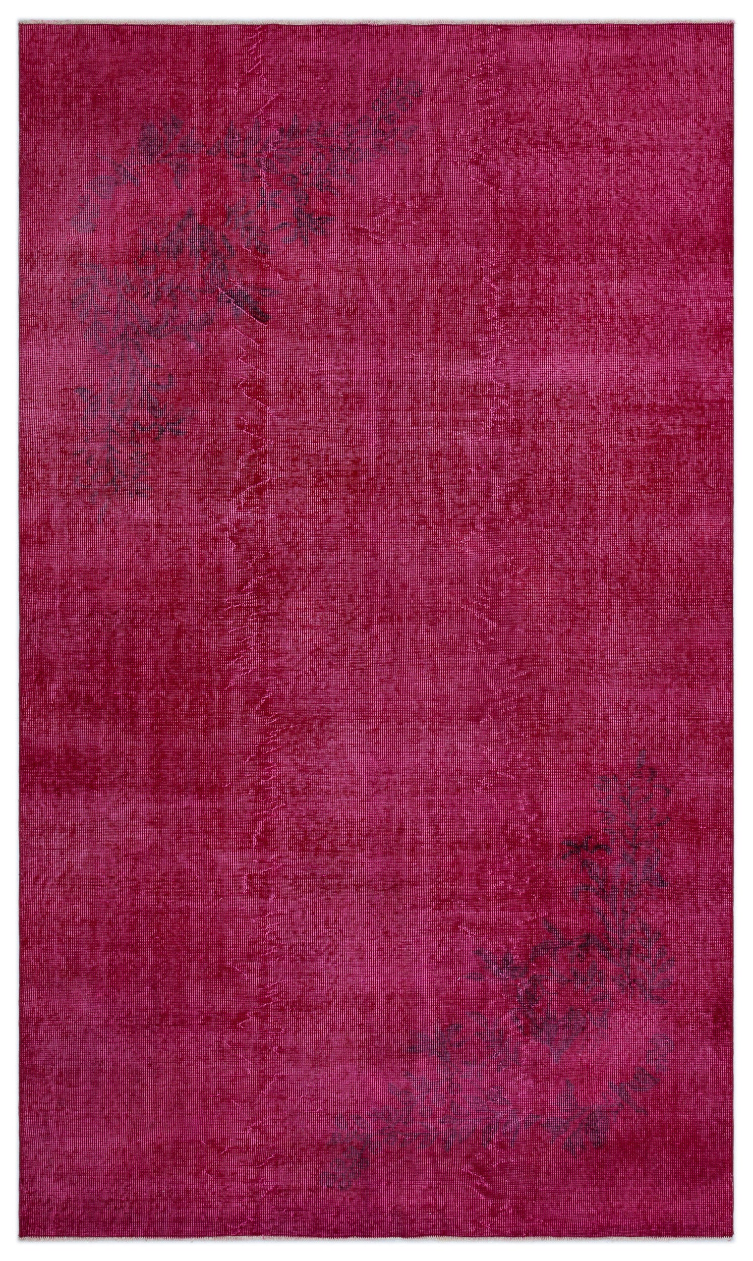 Pink Over Dyed Vintage Rug 4'11'' x 8'7'' ft 151 x 262 cm